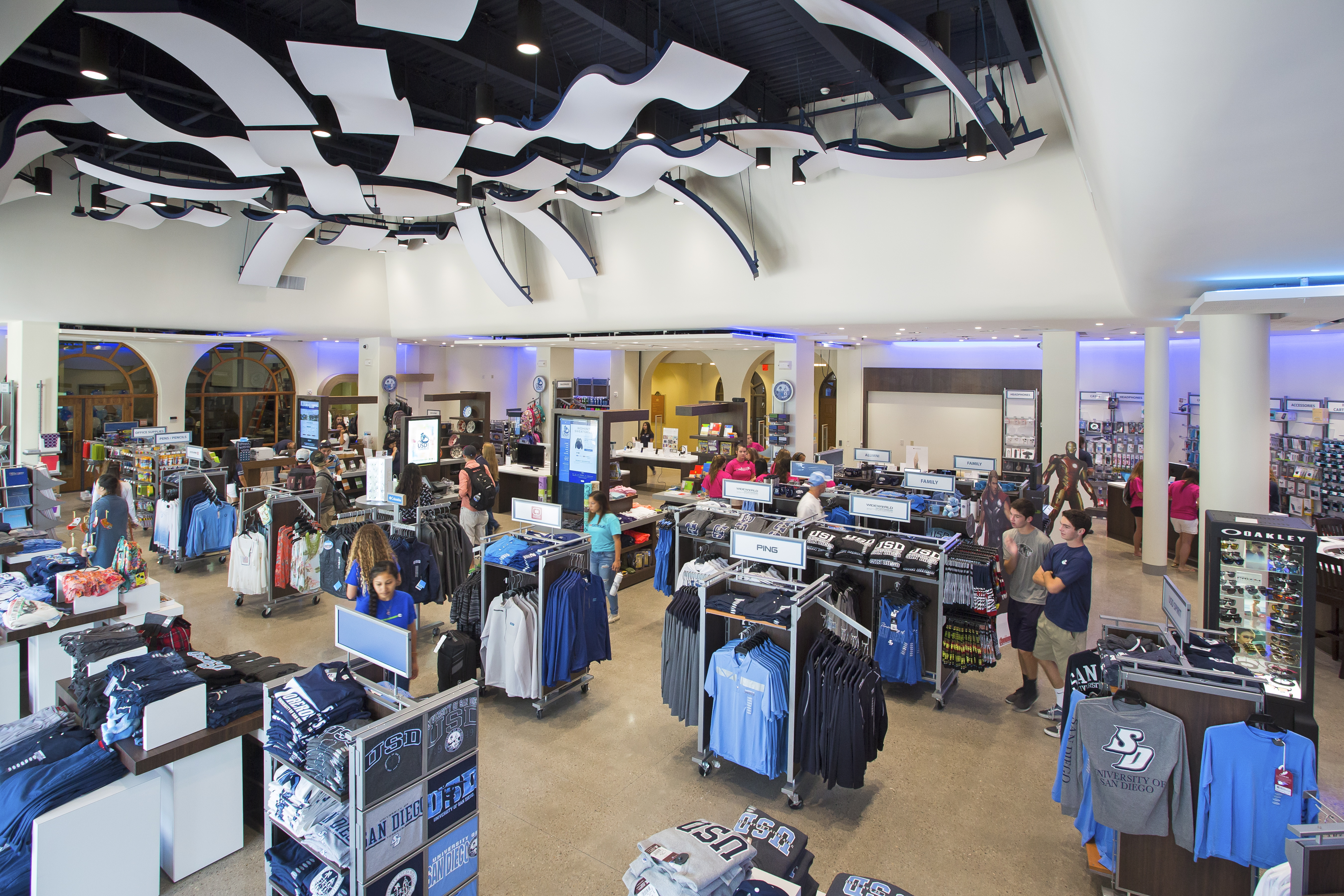 Digital walls and screens, interactive retail technology and faster textbook sales also are new features of the 6,665-square-foot campus store.