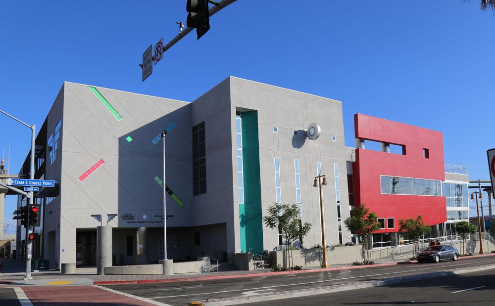 The César E. Chávez Campus building