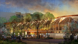 Rendering of The Conrad's exterior