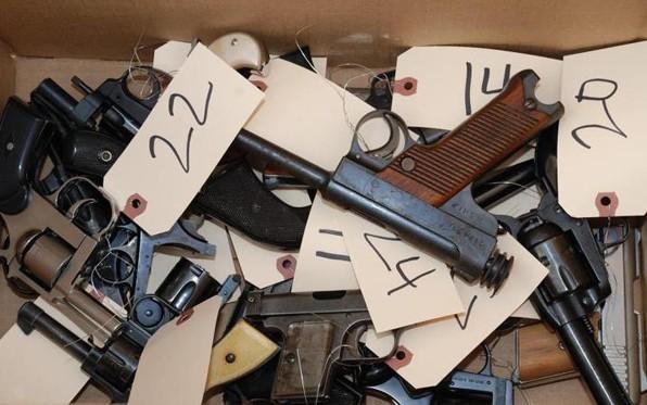 Guns display