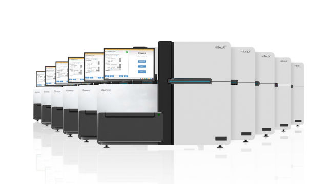Illumina HiSeq X gene-sequencing systems. (Courtesy Illumina)
