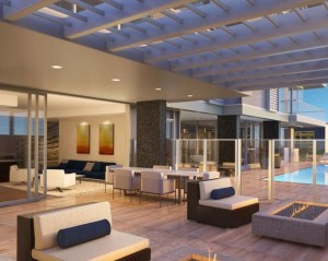 Rendering of the outdoor common area