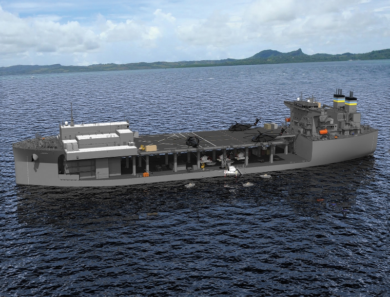 Rendering of Expeditionary Base Mobile ship
