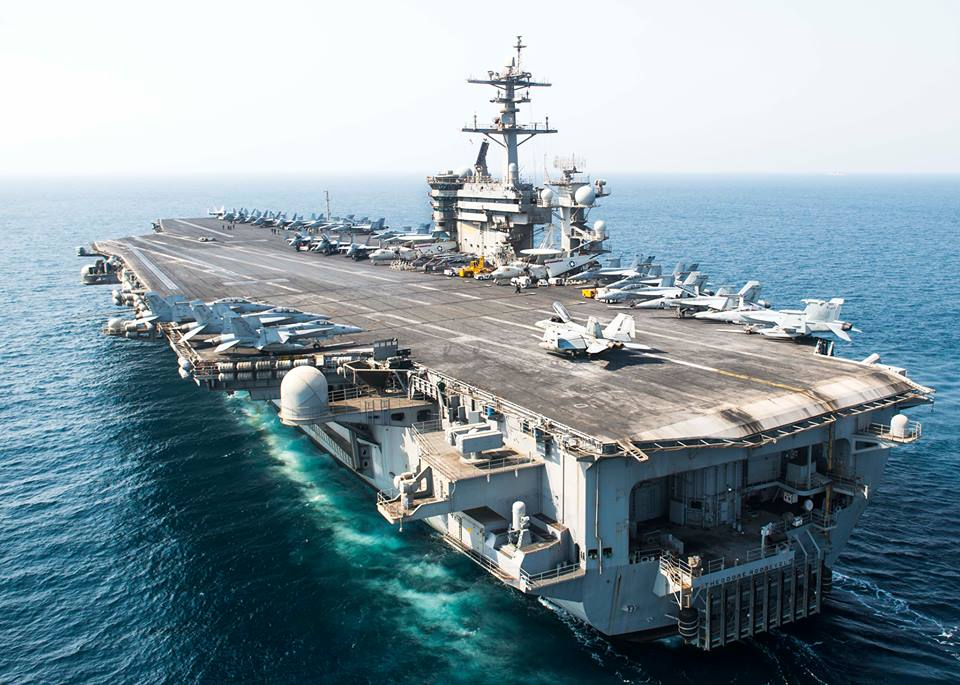 USS Theodore Roosevelt. (Photo by Mass Communication Specialist Seaman Alex Millar/US Navy)