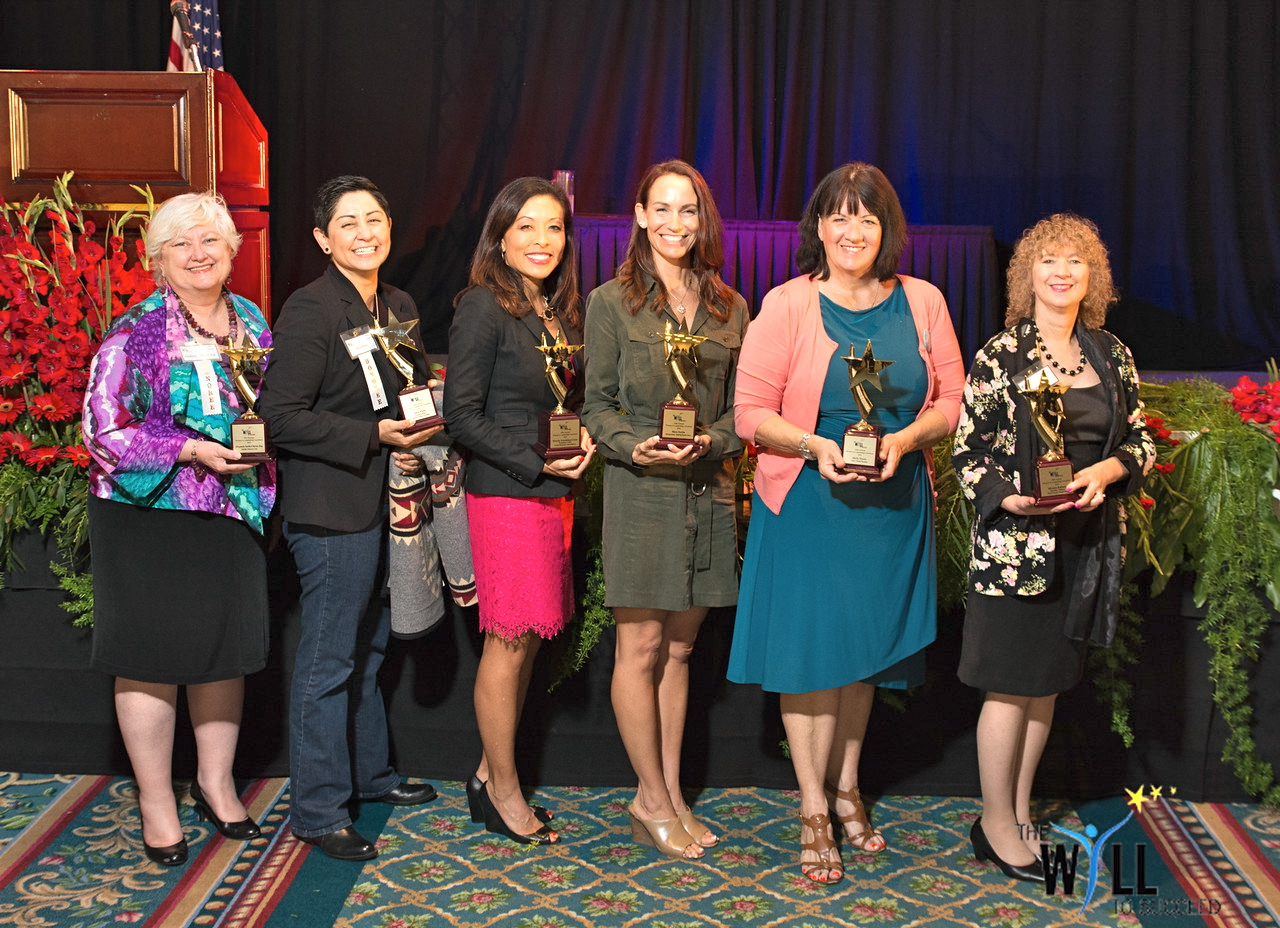 2015 WILL winners (from left): Elizabeth Smith Chavez, Erica Pinto, Wendy Urushima-Conn, Mara Fortin, Molly Nocon, Miriam Raftery. Not shown: Carey Guthrie, Shelly Zimmerman.