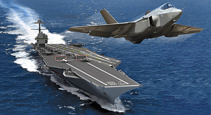 Electromagnetic Aircraft Launch System (EMALS) is a complete launch system designed to replace the existing steam catapult currently being used on U.S. Navy aircraft carriers. The Gerald R. Ford will be the first carrier to use EMALS.