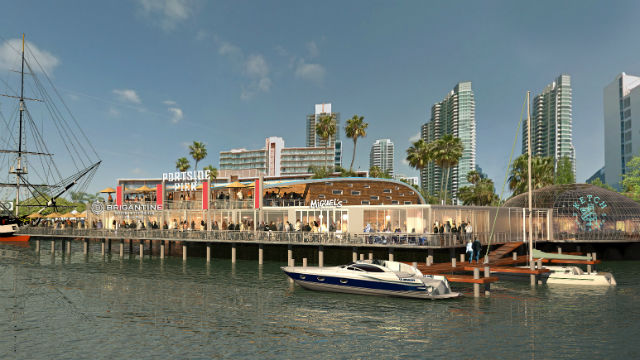 The Brigantine's concept for what is now Anthony's Fish Grotto. Courtesy Port of San Diego