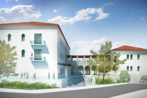 Rendering of science and engineering building
