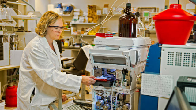 A researcher at Eli Lilly, which is doubling its research operations in San Diego.