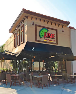 A Lime Fresh Mexican Grill in Miami.