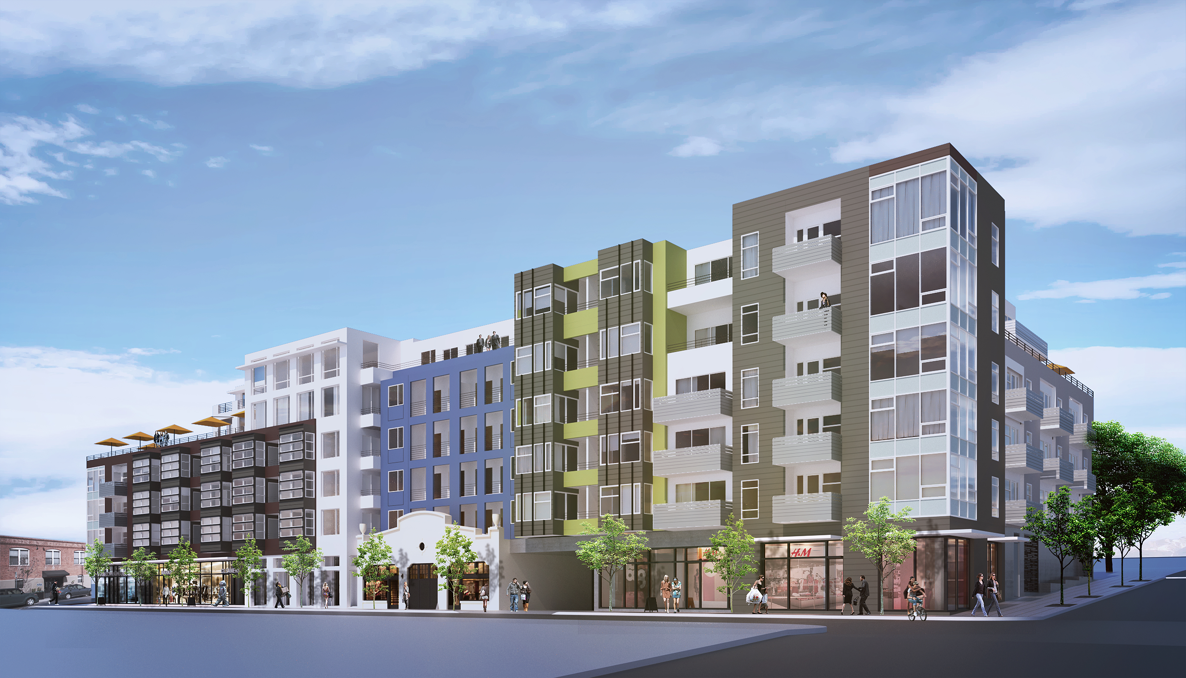 Rendering of CityMark Development's Little Italy project.