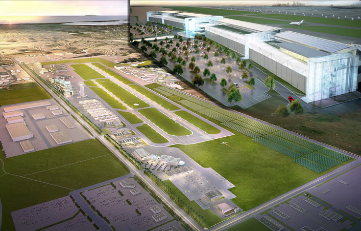 Rendering of the Metropolitan Airpark planned for Brown Field in Otay Mesa.