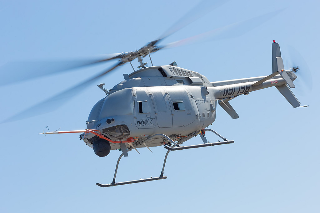 Northrop Grumman's MQ-8C Fire Scout helicopter
