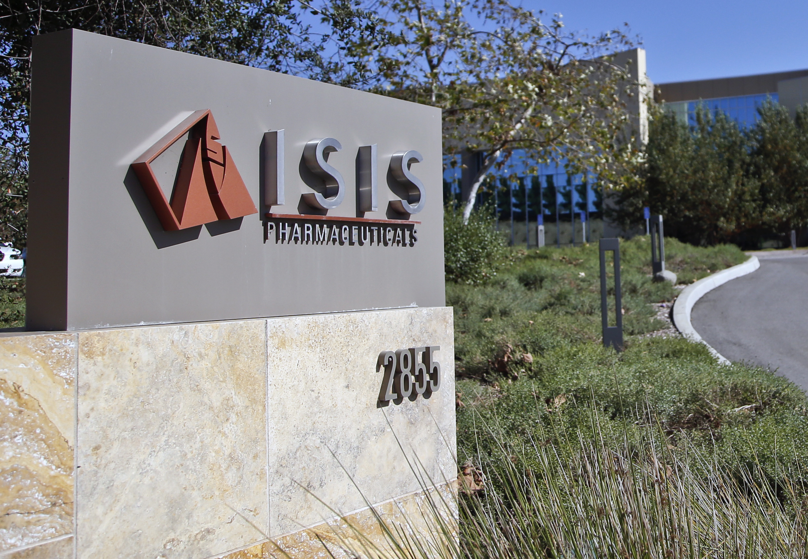 Ionis Pharmaceuticals headquarters with its former name.