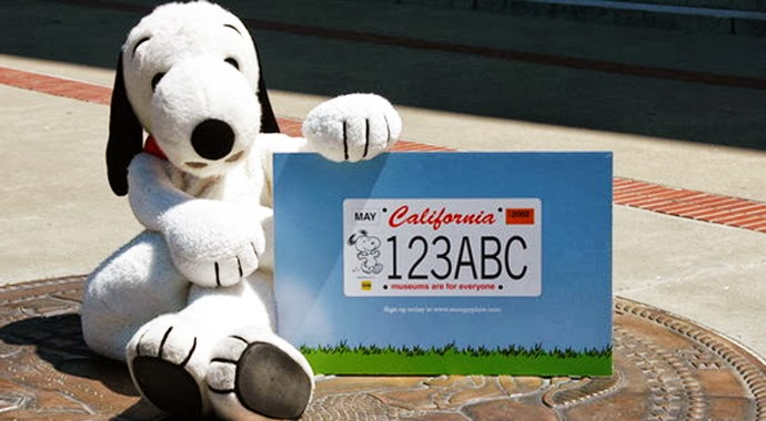 More than 7,500 Californians have submitted pre-paid applications for the Snoopy license plate