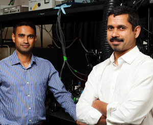 Authors of the new paper include The Scripps Research Institute's Ashok Deniz (right) and Priya Banerjee.
