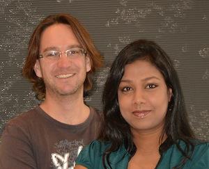 Scripps biologist Michael Petrascheck and research associate Sunitha Rangaraju
