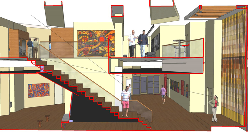REP Lobby Rendering. Photo courtesy of Scatena Daniels