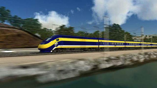 A rendering of the California bullet train. (Courtesy California High-Speed Rail Authority)