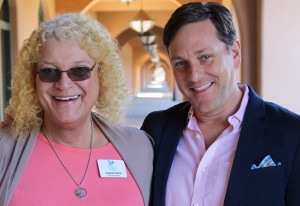 Joselyn Harris, board president of the San Diego Human Dignity Foundation, and Drew Jack, immediate past president of the foundation. (Photo by Big Mike)
