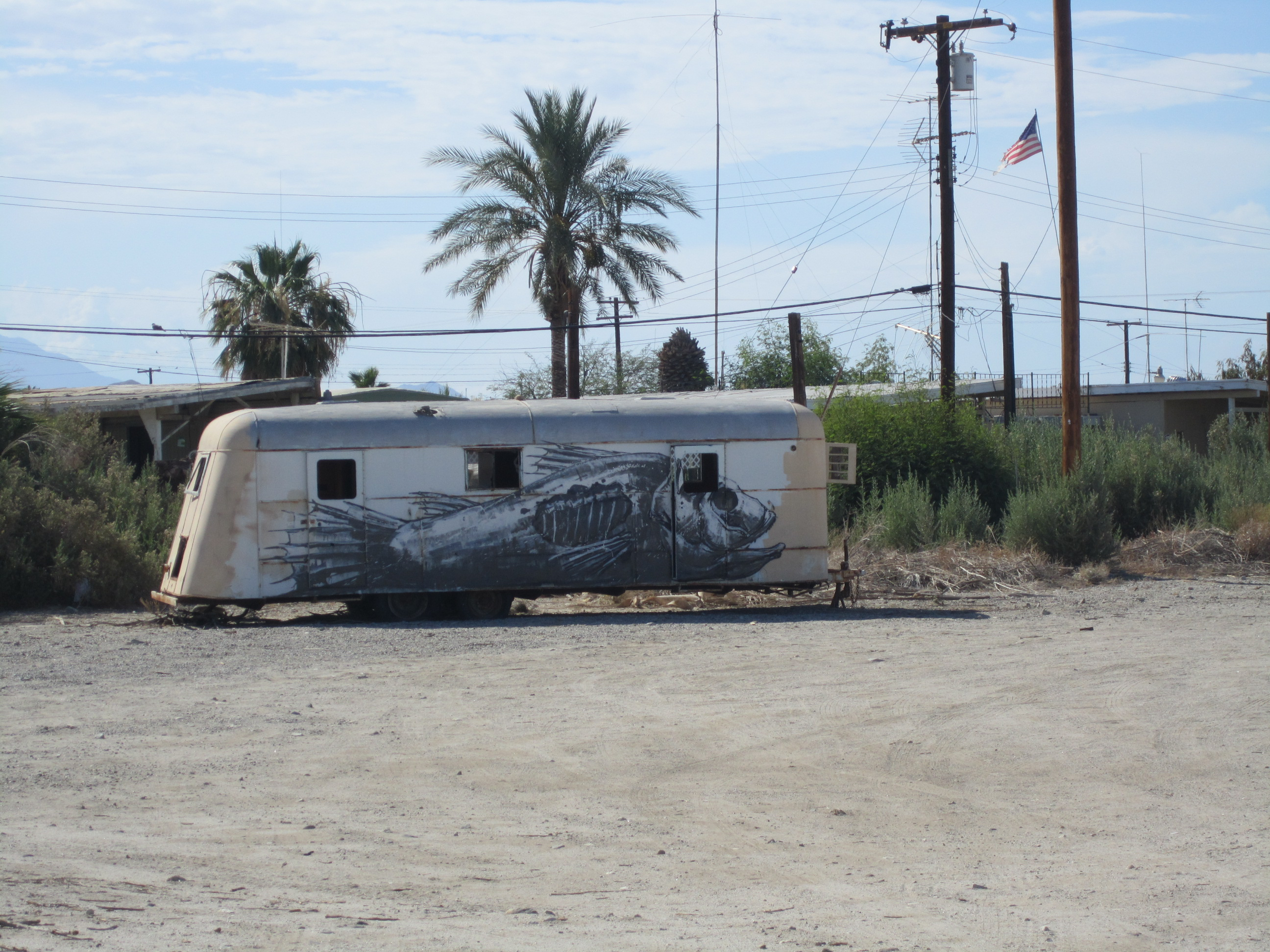 An abandoned trailer at the Salton Sea (file photo)