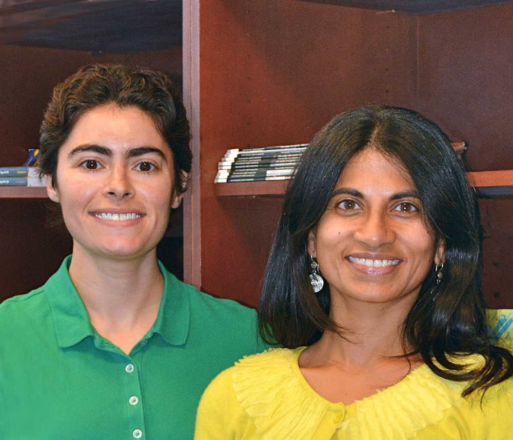 Scripps Research Institute Assistant Professor Supriya Srinivasan (right) authored the new study with Research Associate Emily Witham and colleagues.