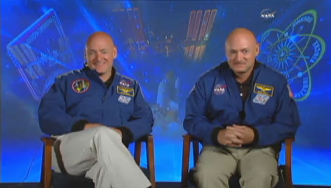 Astronauts Scott Kelly and Mark Kelly (NASA)