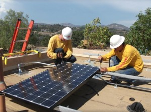 Sullivan Solar Power installers working