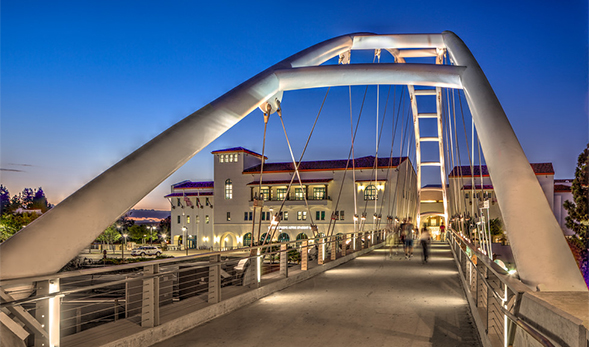 SDSU Pedestrian Bridge. (Photo courtesy of Jim Brady)
