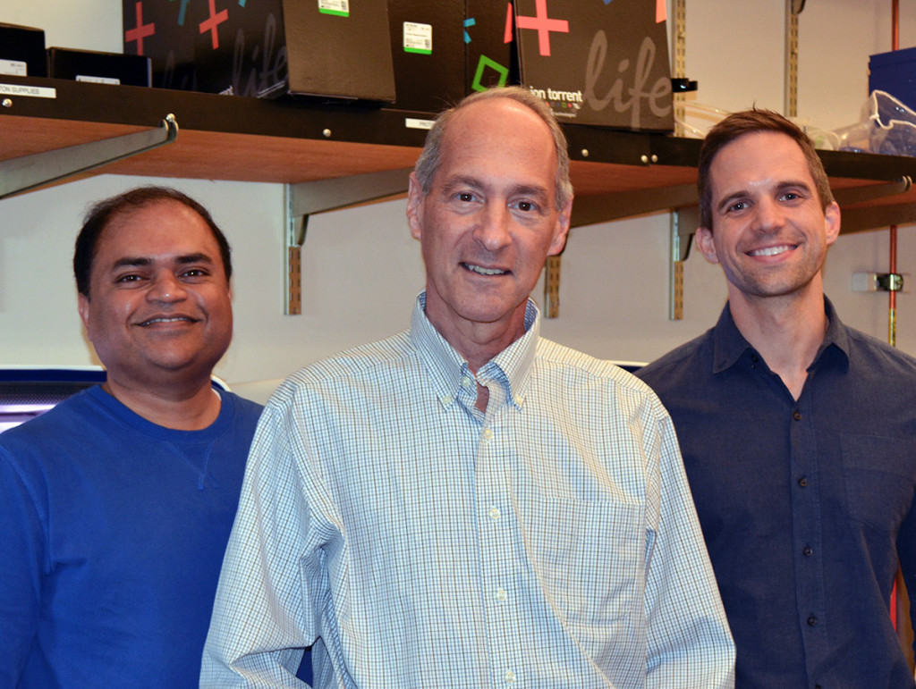 Key authors of the new study, from left: Staff Scientist Sunil Kurian, Professor Daniel Salomon and Clinical Scholar Brian Modena.