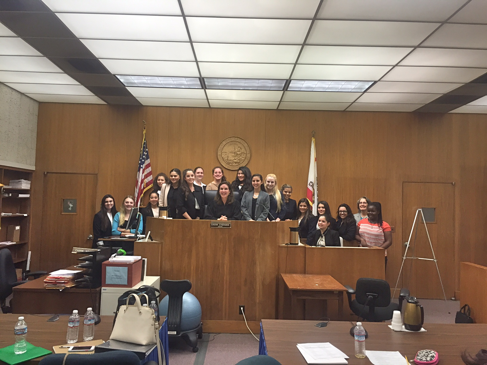 The Mock Trial Team from the Academy of Our Lady of Peace