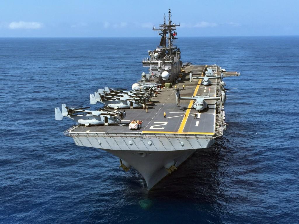 The USS Essex is a Wasp-class amphibious assault ship.