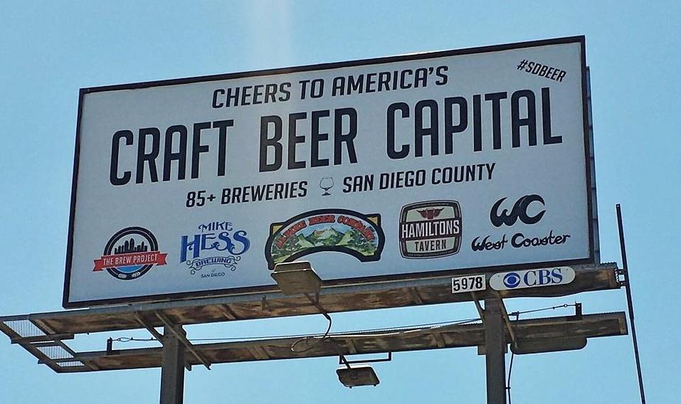 Craft brew billboard (Courtesy New School)