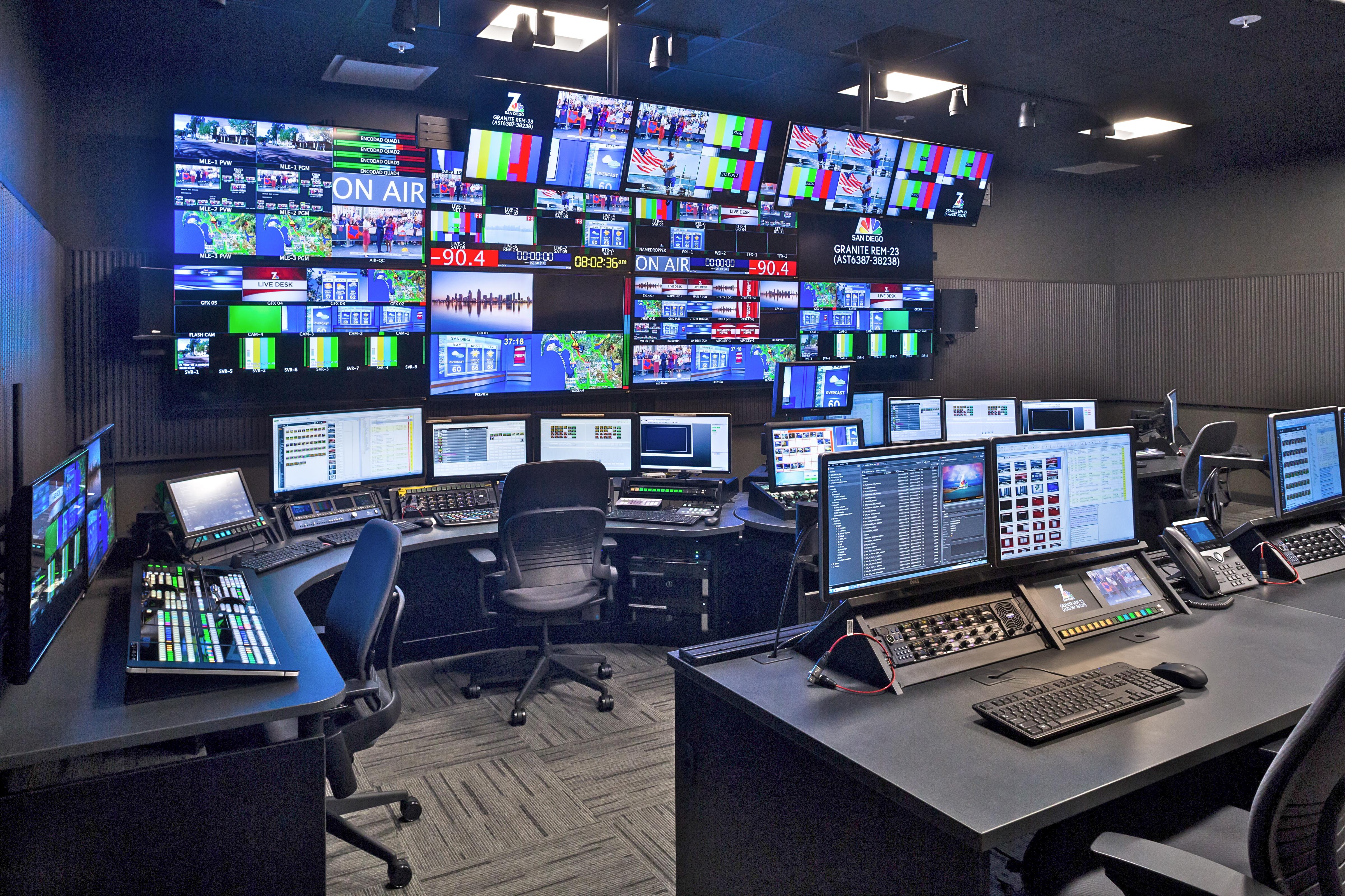 NBC 7 control room