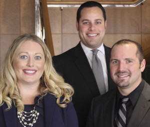 New shareholders Andrea Myers, Matthew Seltzer (center) and Brian Katusian.