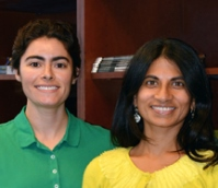Assistant Professor Supriya Srinivasan (right), here with Research Associate Emily Witham, the study's first author.