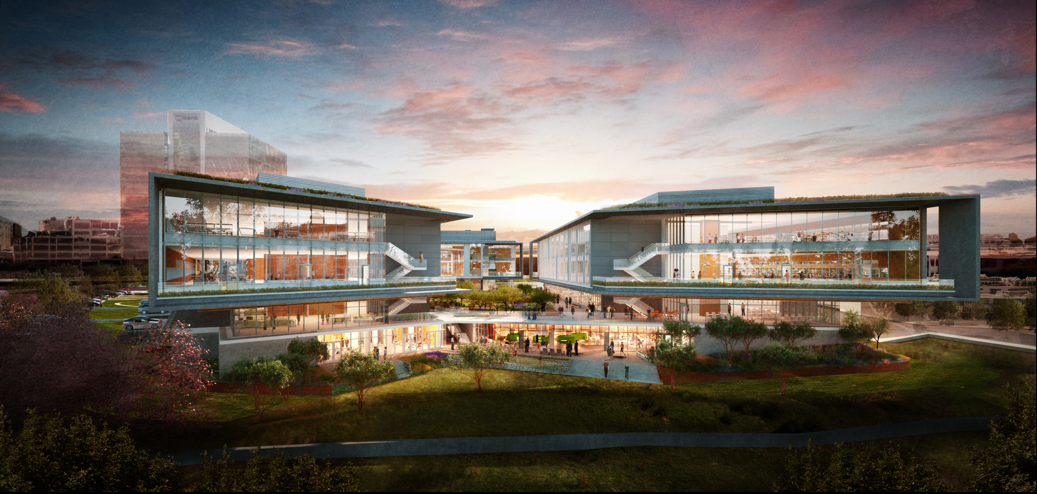Rendering of BioMed Realty's i3 campus, which will be leased by Illumina.