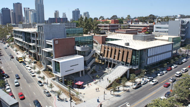 Buildings on the City College campus in the East Village. (Photo courtesy of City College)