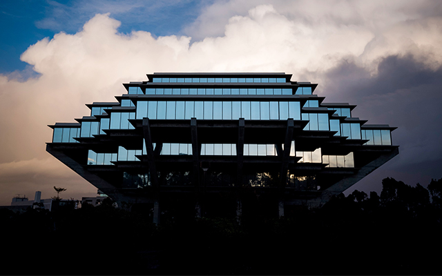 Geisel Library at UCSD. (Photo by Erik Jepsen/UC San Diego Publications)