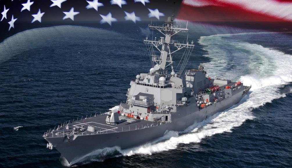 Rendering of of the USS John Basilone. (Navy photo illustration)