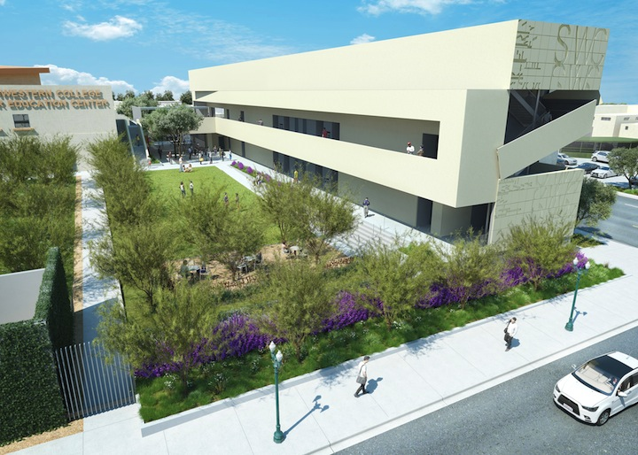 Rendering of the new building in Southwestern College's Higher Education Center.