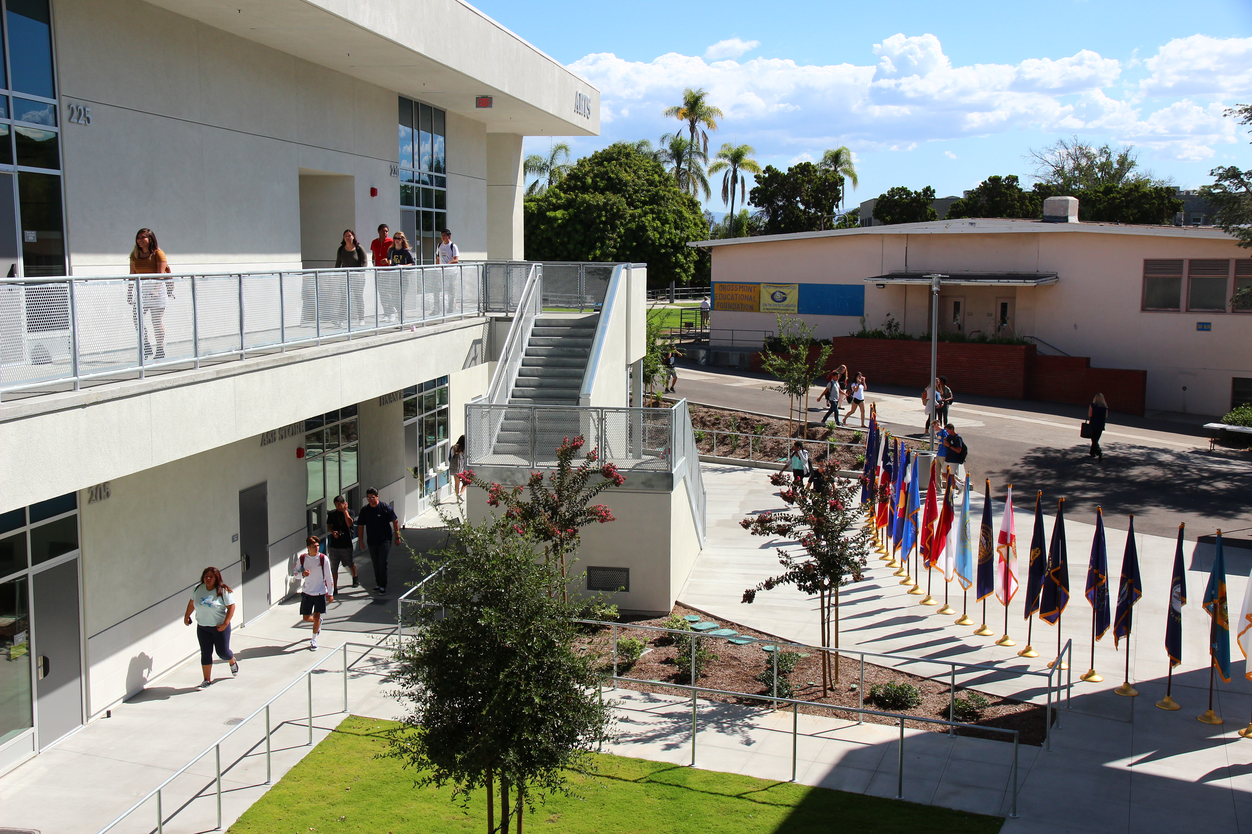 One of the new buildings at Grossmont High School.