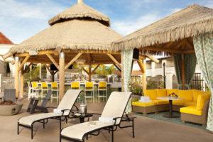 The seasonal outdoor Tiki Bar.