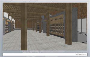 Breitbard Hall of Fame rendering. (Credit: Morgan Design)
