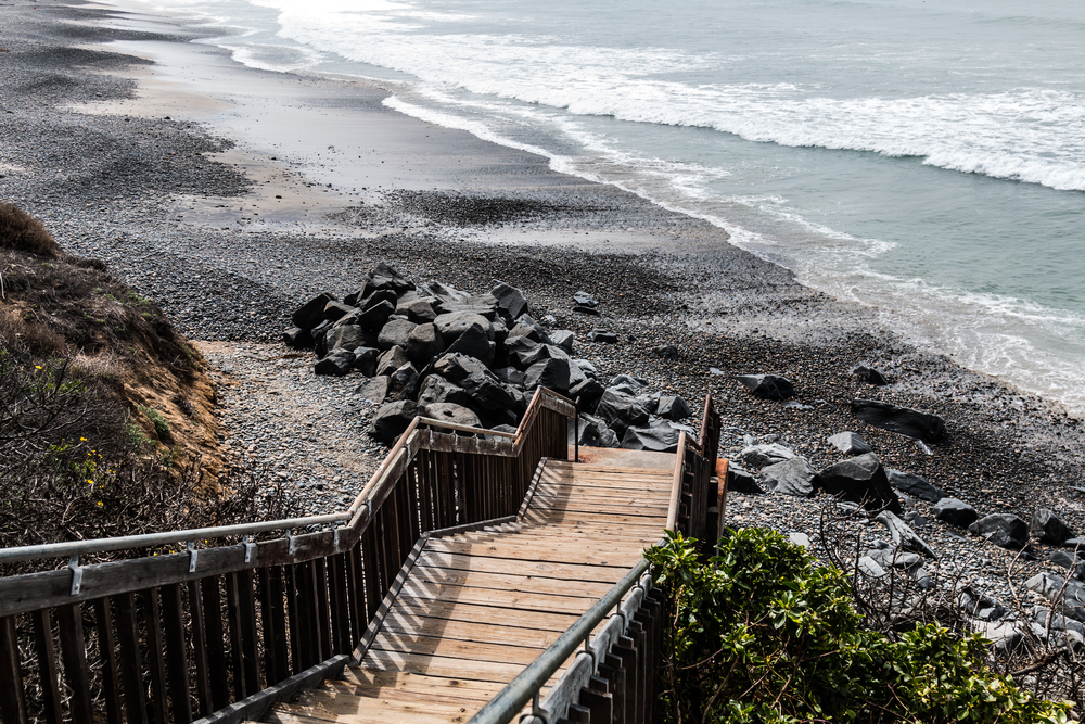 View from staircase leading to South Carlsbad State Beach. (Shutterstock.com)