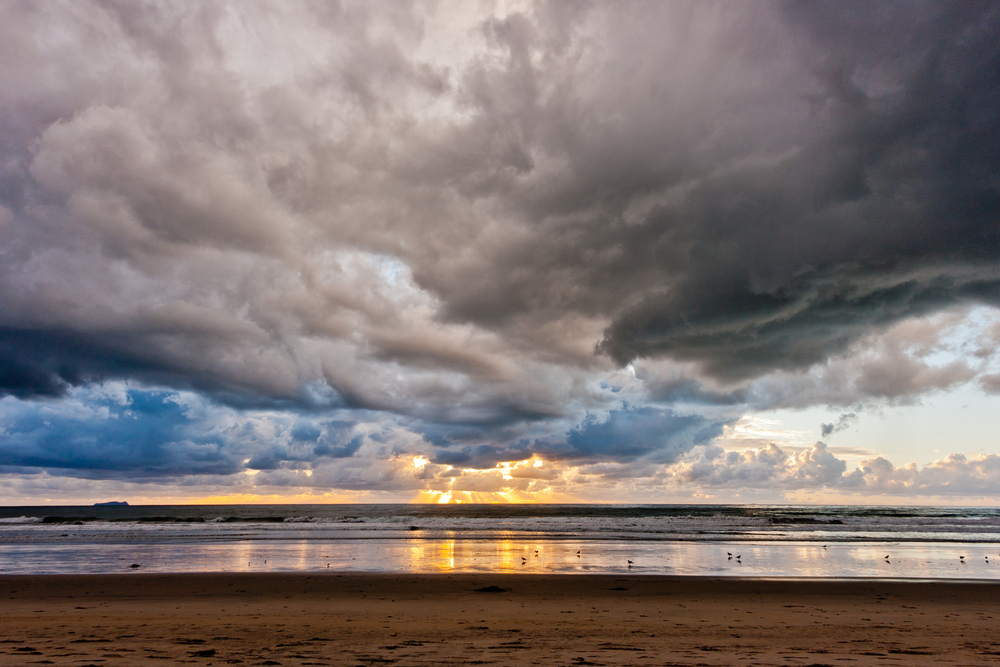 Storm clouds and sunset at Silver Strand State Beach in Coronado. (Shutterstock.com)