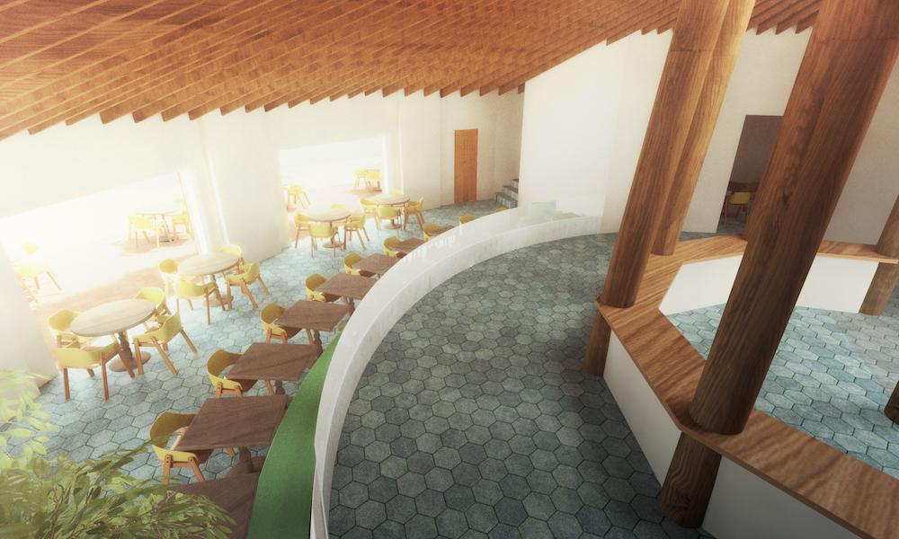 Restaurant interior (Rendering by Playground)