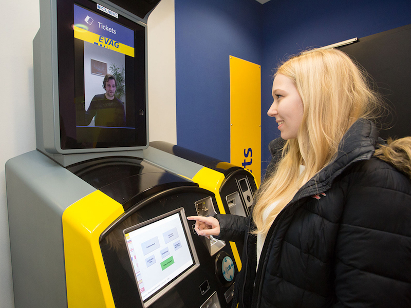 Cubic's Virtual Ticket Agent being tested.