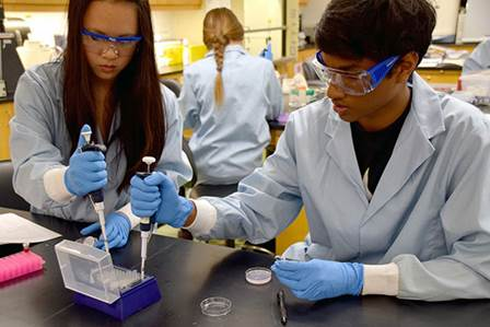 Students at Miramar College's Southern California Biotechnology Center, which supports regional life sciences/biotechnology programs to provide job candidates for one of San Diego's most important industries.