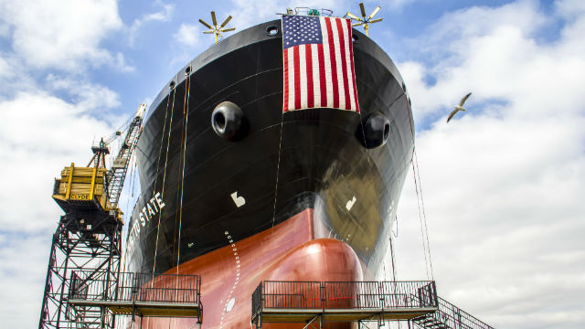 The Palmetto State. The LNG-ready ECO Class tankers are the most fuel-efficient product carriers to enter the Jones Act trade. (Courtesy of NASSCO)